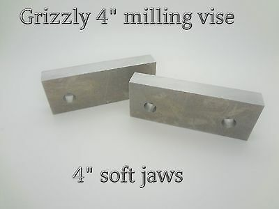 G7156 Grizzly Premium Milling Vise 4 Soft Jaws Aluminum Machinable 1.5 G0704