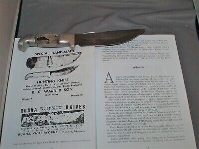 Super Rare - Vintage R H RUANA BONNER MONTANA - Unfinished Mint Knife Blank