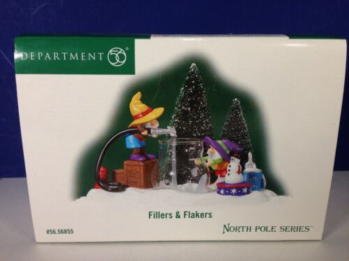 Dept 56 North Pole Village FILLERS & FLAKERS 56.56855 Brand New!