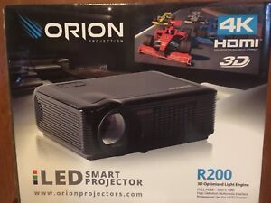 """4K HDMI 3D projector and 72"""" screen"""
