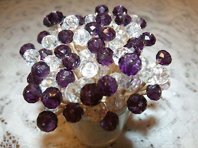 Purple Crystal Toothpicks Wedding Halloween Christmas Dinner Party Food Picks ()