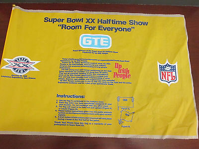 Nfl  Super Bowl Xx 20 In New Orleans   Up With People Halftime Show Flag Yellow