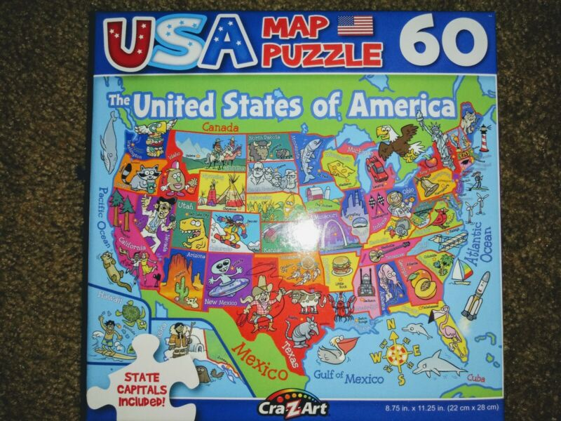 New 60 Piece Jigsaw Puzzle The United States of America Great for kids