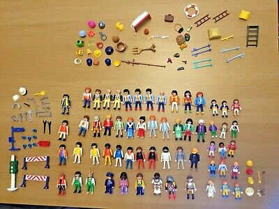 Large Huge Bundle Playmobil figures adults children and accessories
