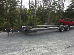 2 two car trailer, light weight, 30'