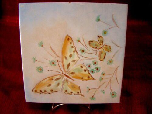 Vintage - Hermosa Tile - Butterflies & Flowers - Gladding & McBean Co - L@@K!!