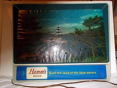 Hamms Beer Sign 1956 Lighted Motion Water Rippler # 42243 - Item #152