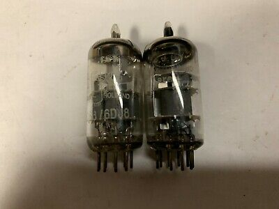 2 AMPEREX BUGLE BOY ECC88/6DJ8 VACUUM TUBES, used for sale  Shipping to South Africa