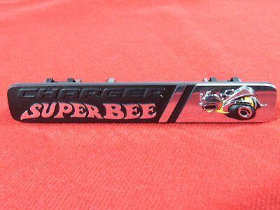 """DODGE Charger """"Super Bee"""" Instrument Panel Dash nameplate emblem NEW OEM MOPAR"""