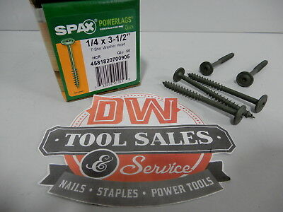 Spax Screws Made In Usa 14 X 3 12 Washer Head Star Drive Exterior