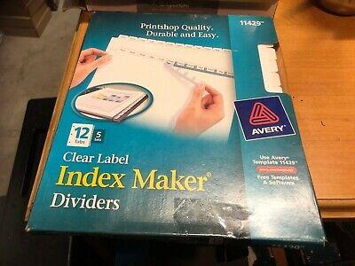 Index Maker, Laser, Punched, 12-Tabs, 5/ST, 8-1/2