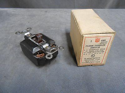 Unused Vintage Bryant 4966 Composition Tumbler Quadruple Break Light Wall Switch