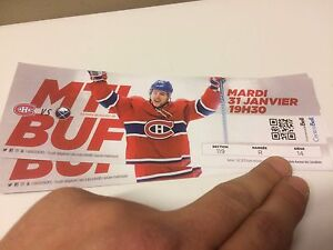CANADIENS VS BUFFALO 2 RED TICKETS 250$