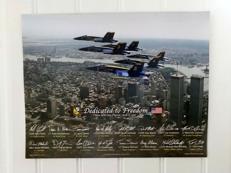 Original Blue Angels 2002 Twin Towers - World Trade Center Flyover mini poster