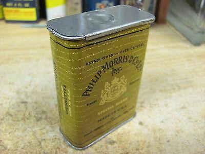 Philip Morris Tobacco Tin  Smoking Pocket Can Original Cigarette Usa Vintage