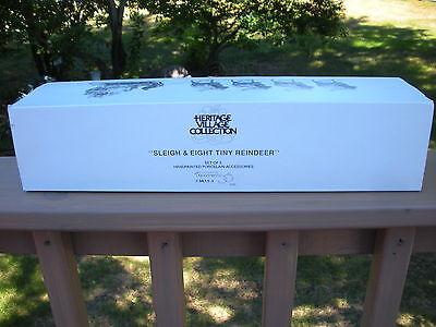 "Dept. 56, ""SLEIGH & 8 TINY REINDEER"" - #56111, 1990-2007- Never Been Used"