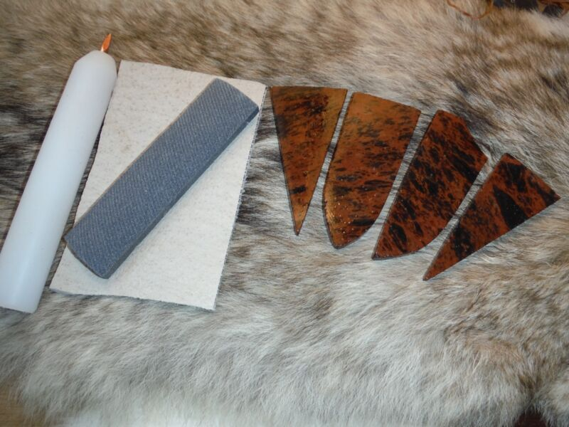 PRO BEGINNERS KIT FLINT KNAPPING Obsidian Primitive Skinning Knife Preform Tools