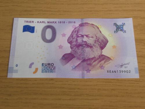 KARL MARX 200 years 1818 - 2018 TRIER ZERO EURO 0 EUROS Schein billet UNC  NEW