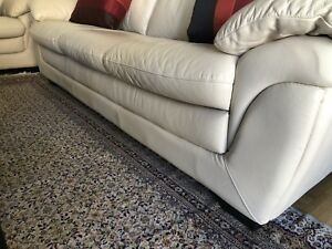 Leather couches $175will give Persian carpet with it