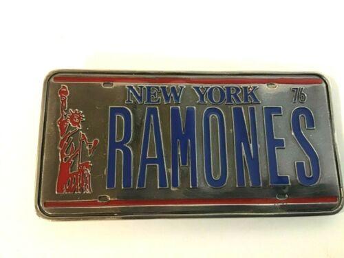 THE RAMONES LICENSE PLATE BELT BUCKLE LICENSED Punk Rock New York