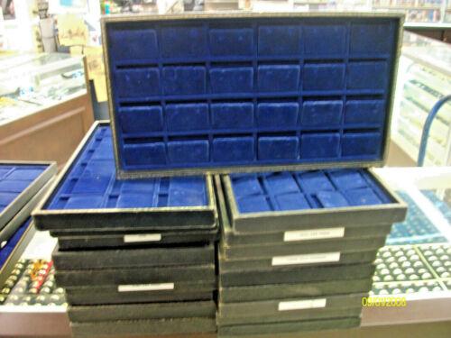 20- Vintage Velvet 24 insert  Display Tray