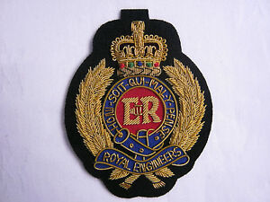 Royal Engineers Wire Embroidered Bullion Blazer Badge - British Army