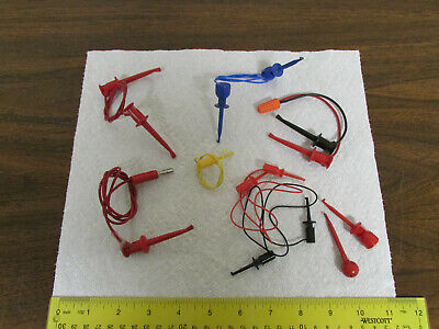 Assorted Pomona E-z Hook Micro-grabber Electronics Test Leads Various Colors