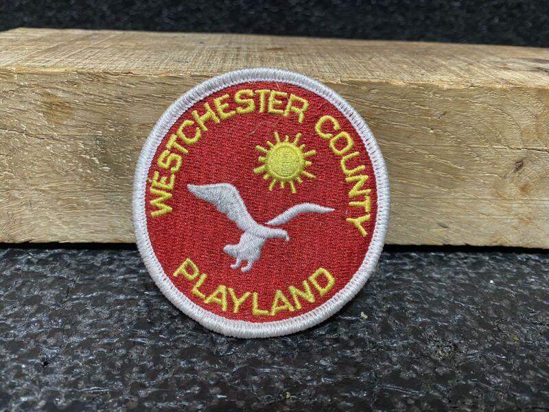 "Vtg Westchester County Playland Amusement Park Iron On Patch 3"" Rye, New York"