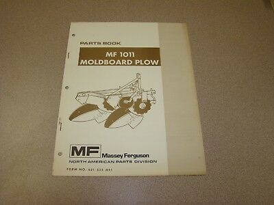 Original Massey Ferguson Mf 101 Moldboard Plow Parts Book