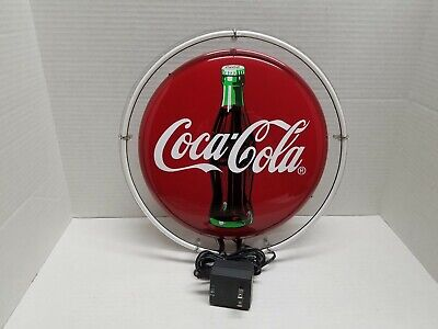 Coke Neon Sign 12 Inch Round Button Disk Metal