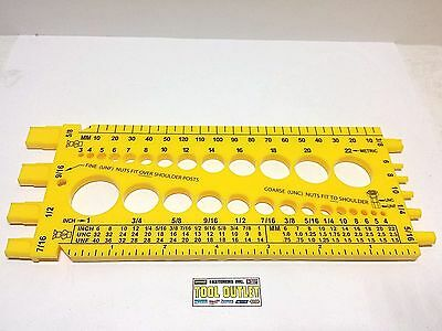 Bolt Nut Screw Thread Fastener Gauge Checker Metric Standard. Measure A Screw