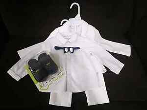 White baby suit - Like New Bethania Logan Area Preview