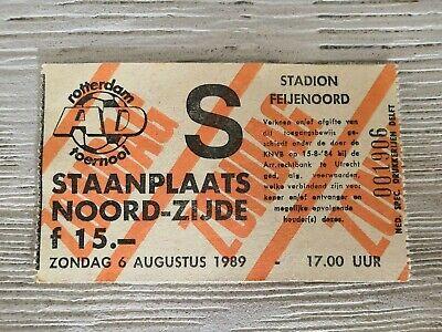Ticket RSC Anderlecht - Fluminese / Feyenoord - SL Benfica 1989 Rotterdam