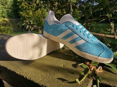 Adidas Originals Gazelle Fashion Trainers Unisex Blue White  Sizes UK 7 -13