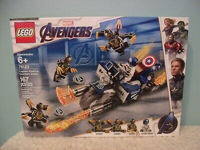 LEGO Marvel Avengers Captain America Outriders Attack 76123 Brand New 167 pieces