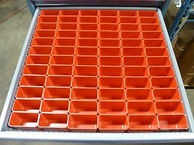 72 2x4x3 Deep Plastic Boxes-lista Vidmar Waterloo Toolbox Organizer Box Cups