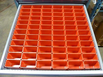 "72 2""x4""x3"" deep Plastic Boxes-Lista Vidmar Waterloo Toolbox Organizer Box Cups"