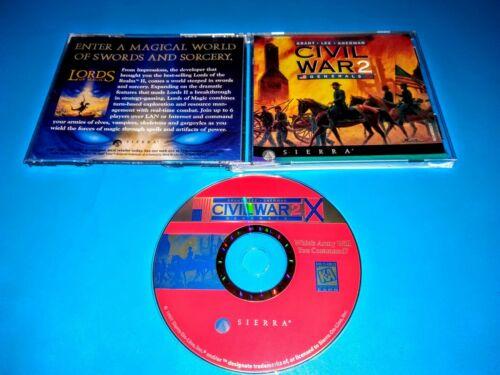 Computer Games - CIVIL WAR 2 Generals By Sierra PC CD CD-ROM Computer Game - Grant, Lee, Sherman