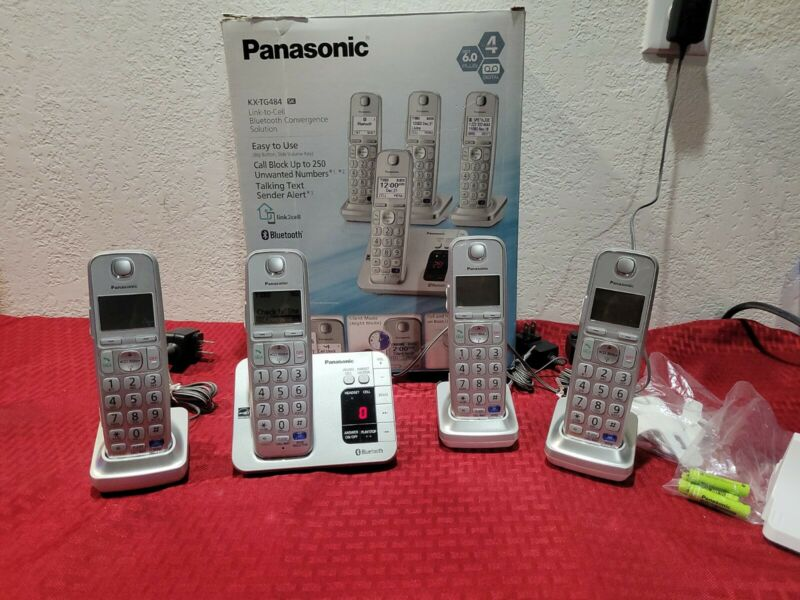 Panasonic KX-TG484 SK Link To Cell Bluetooth Telephone System