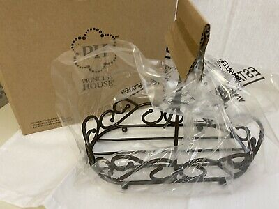 "L 722 Princess House Meridian Bathroom Caddy 7 7/8""L X 3 5/8""W X 7 1/8""H Ret NIB"