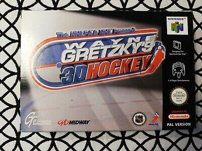 N64 Wayne Gretzky's 3D Hockey PAL Nintendo 64