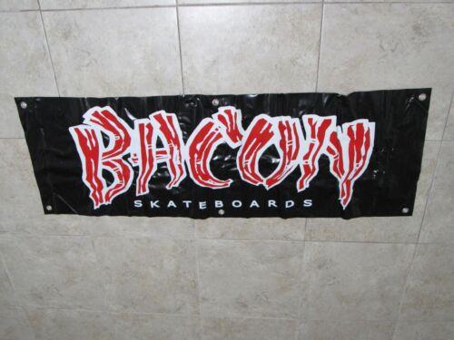 """BACON Skateboards BANNER Vinyl 5 Foot By 20"""" 5x2 Poster Flag Skater Sticker Deck"""