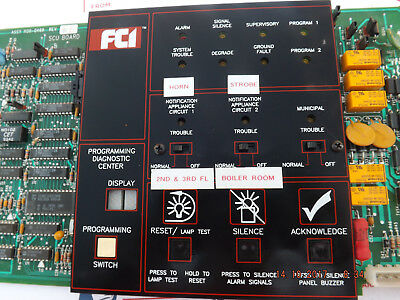 Fci 7200 Series Scum System Control Unit Fire Alarm 1120-0469 With Special Chip