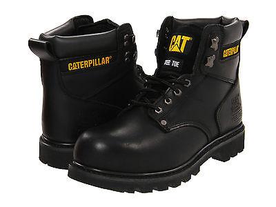 Men Caterpillar Second Shift Steel Toe Work Boot P89135 Black 100% Original New