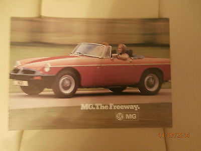 MGB tourer / convertible. The Freeway. Brochure.   Excellent condition.  GIFT.