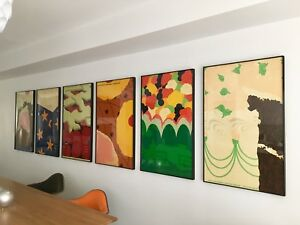 Original Framed Herman Miller Summer Picnic Posters