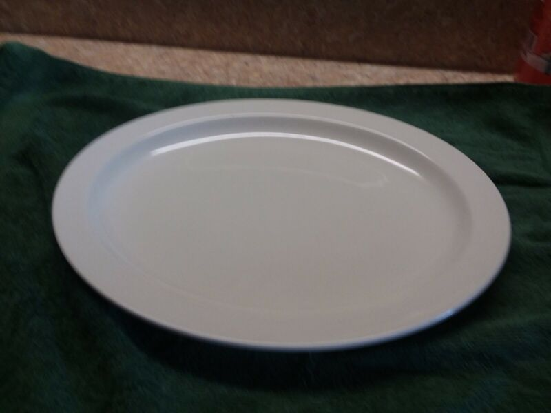 """Midwinter STONEHENGE WHITE 12"""" OVAL SERVING PLATTER England  ~EXCELLENT"""