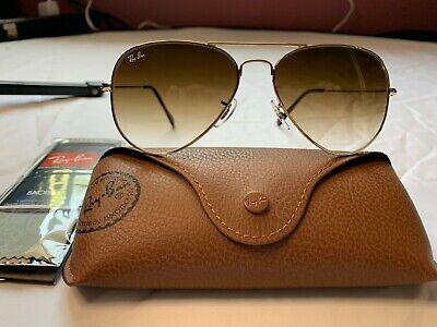 Ray-Ban Aviator Sunglasses RB3025 58mm 001/51 Gold Frame w/ Brown Gradient (Rayban Aviator 3025 001 51)