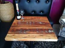 RECYCLED TIMBER TABLE TOPS RESTAURANT CAFE WHOLESALE PRICES Revesby Bankstown Area Preview