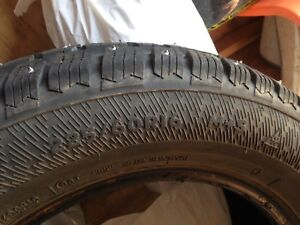 Winter studded snow tires
